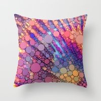 bubbles Throw Pillows featuring bubbles by Sylvia Cook Photography