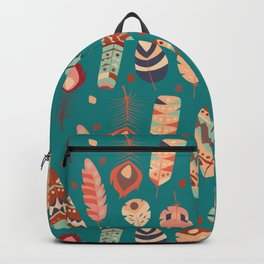 Tribal feather pattern 023 Backpack