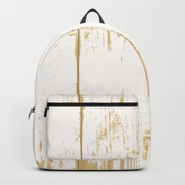 Rustic wooden texture. White and gold antique wood. Backpack