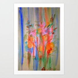 Watercolor Flowers Art Print