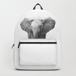 Black and White Baby Elephant Backpack