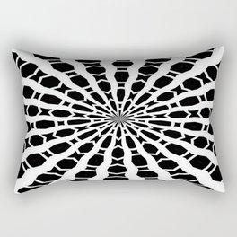 Black and White Bold Kaleidoscope Rectangular Pillow