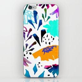 Daisy Days Blue iPhone Skin