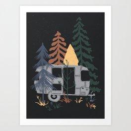 Wild Airstream... Art Print