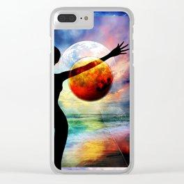1-10 HALF FULL Clear iPhone Case