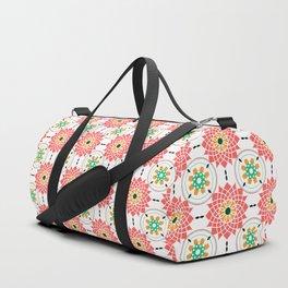 morrocan pink mandala pattern no4 Duffle Bag