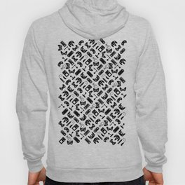 Control Your Game - White on Black Hoody