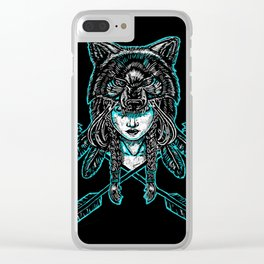 Wolf Spirit: Guarded Clear iPhone Case