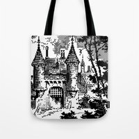 castle Tote Bags featuring Castle by noirlac