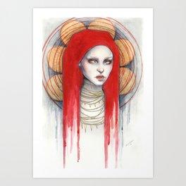 """Kaos"" Mixed Media Portrait painting Art Print"