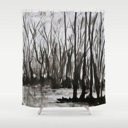 Brent skog - Gerlinde Streit Shower Curtain