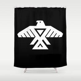 Thunderbird flag - HD image inverse Shower Curtain
