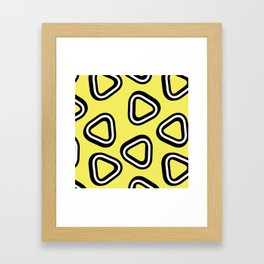 Soft Triangle Framed Art Print