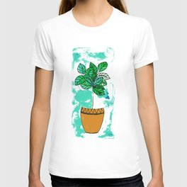 Indoor plant in pot T-shirt