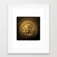 yankees Framed Art Prints featuring yankees by freak