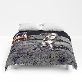 Salute on the Moon Comforters