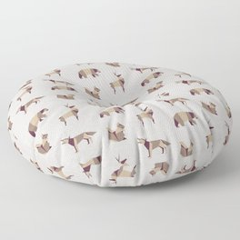 Folded Forest - Geometric Origami Animals Pattern Floor Pillow