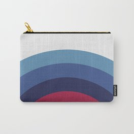 Retro Sunset Wave Vibes Carry-All Pouch