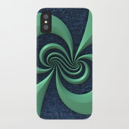 Green on Blue iPhone Case
