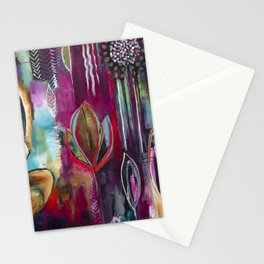 """Held and Healed"" Original Painting by Flora Bowley Stationery Cards"