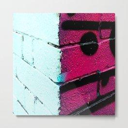 Wall, East London, Shock Pink Metal Print