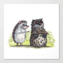 Hedgehog's here Canvas Print