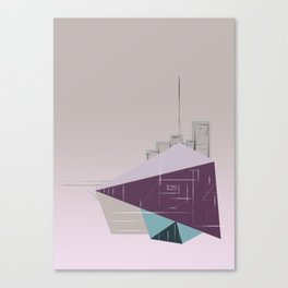 floating city doodle Canvas Print