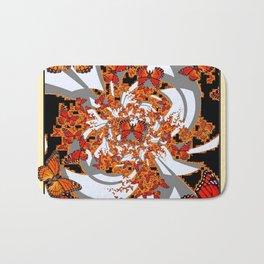 Modern Monarch Butterfly Abstract Art Bath Mat