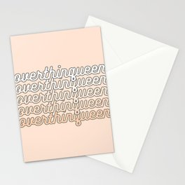 the queen of overthinking Stationery Cards