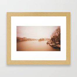 Seine Boats Framed Art Print