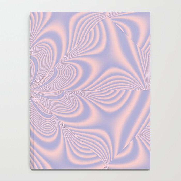 Whirly Bloom Fractal in Rose Quartz and Serenity Notebook