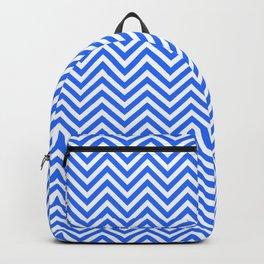 Dark Blue Chevron Backpack
