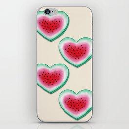 Summer Love - Watermelon Heart iPhone Skin