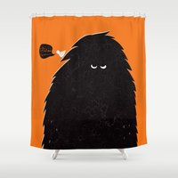 monster Shower Curtains featuring Monster by Spore