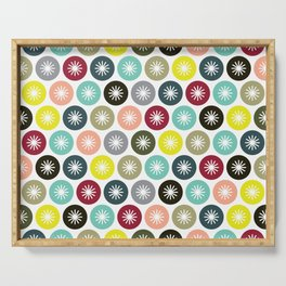 Geometric Pattern 243 (colorful stars) Serving Tray