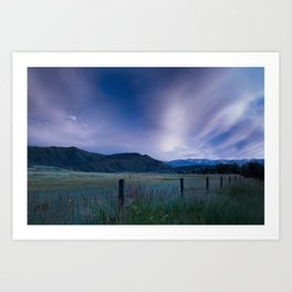 Clouds astound Art Print