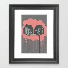 Together Through The Storm Framed Art Print