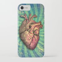 anatomical heart iPhone & iPod Cases featuring Anatomical heART by Li9z