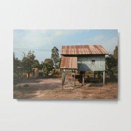 Cambodian House Metal Print