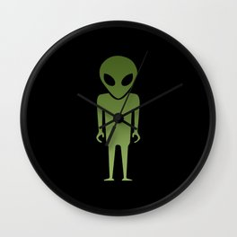 Extraterrestrial Alien Body Wall Clock