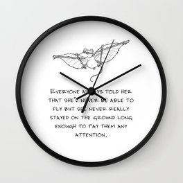 Never be able to fly Wall Clock