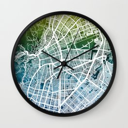 Cali Colombia City Map Wall Clock