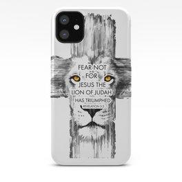Lion Cross jesus revelation iPhone Case