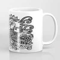 rooster Mugs featuring Rooster by MotherSpoon