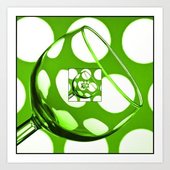 The Eternal Glass Green Art Print