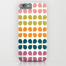 Retro '70s Geometric Leaves iPhone Case
