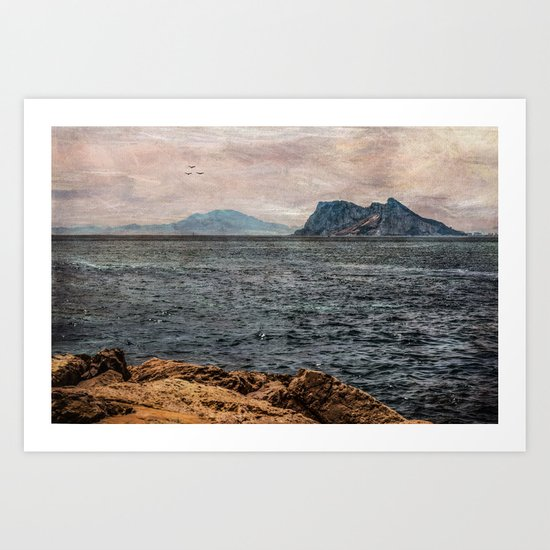 A view to the Rock of Gibraltar Art Print