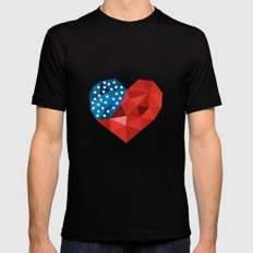 4th of July Mens Fitted Tee Black MEDIUM
