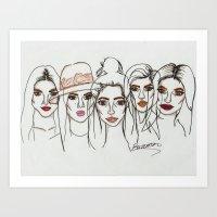 Art Print featuring Kardashian Khaos by BethanieWarrenArt