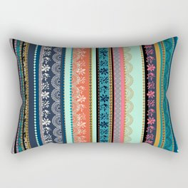 Bohemian Tribal Stripe Rectangular Pillow